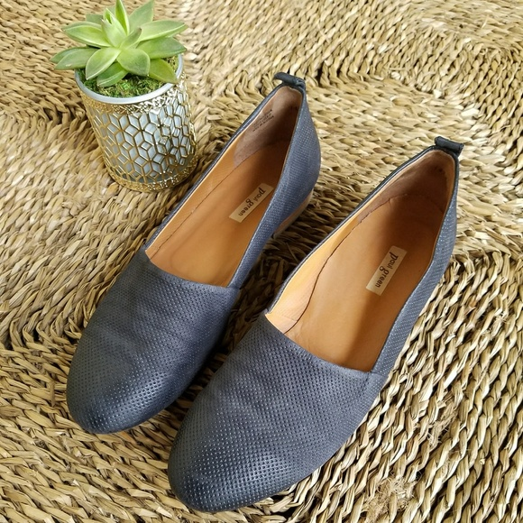 7cf24579b96 Paul Green Perry Flats Perforated Leather Slip ons.  M 5af972192ae12f930af97061